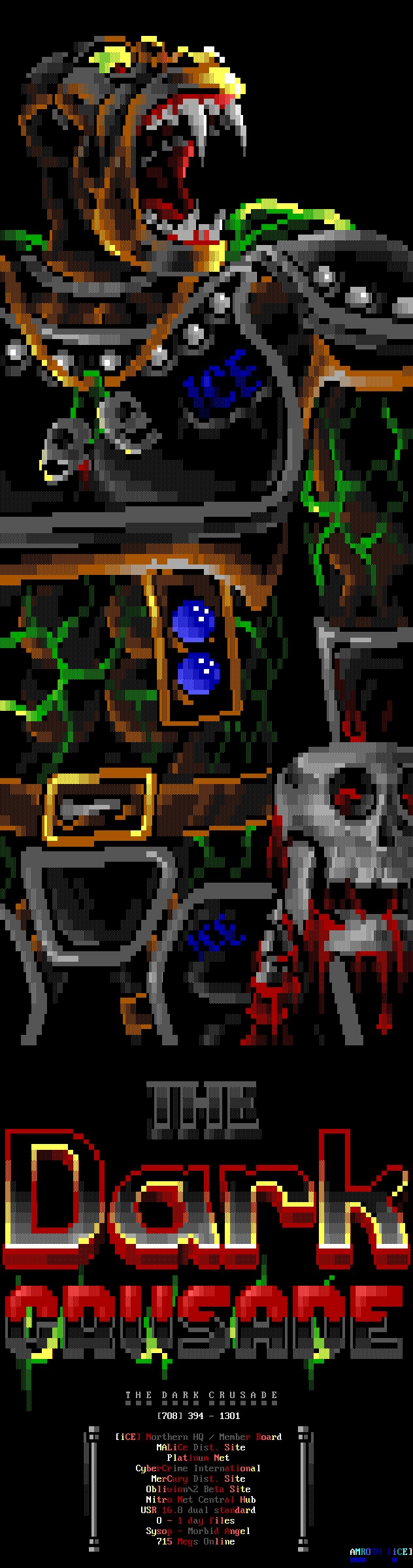 these groups were interesting (iCe) ansi art