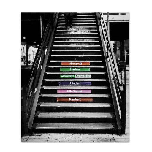 "Subway Steps | 8"" x 10 Metal Photo Print in kulturekult's store - $50.00  Visit us on kulturekult.com"