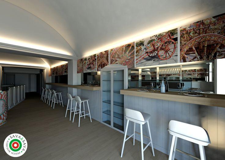 Interior solution for a sicilian restaurant