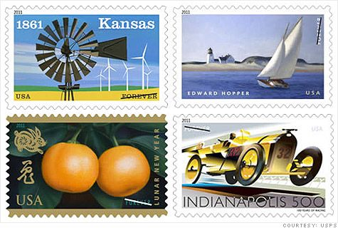 "Beginning in January, 2011, all new U.S. stamps good for one ounce of first-class mail will be marked with the ""Forever"" designation instead of a postage rate."