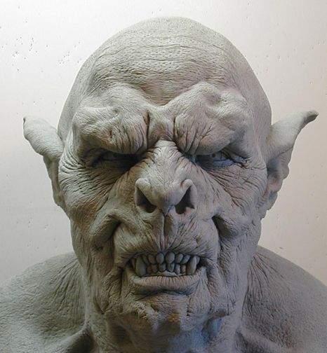 orc mask in clay... by dreamfloatingby.deviantart.com on @deviantART