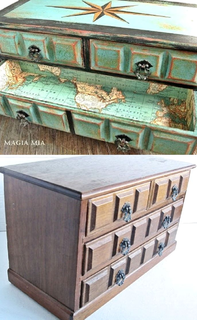 completely coastal decorating & crafting http://www.completely-coastal.com/2013/08/painted-treasure-chest.html