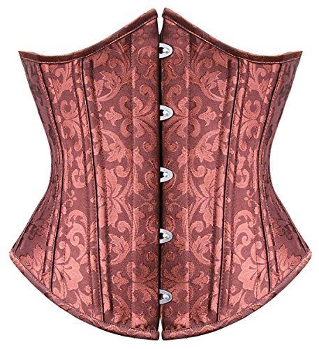 Lucea Women's 26 Steel Bones Waist Training Full Double Steel Boned Shaper Corset Heavy Duty Waist Training Shaper Brocade Brown Small Lucea http://www.amazon.com/dp/B00PKEE7UK/ref=cm_sw_r_pi_dp_PEkFub0H6VRCN