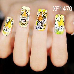 Ногти Маникюр 2 Листов Горячие Женщины Продаж Наклейки Leopard Вода Передача Nail Art Советы Перо Переводные Картинки Инструменты Бесплатная Доставка Xf1470
