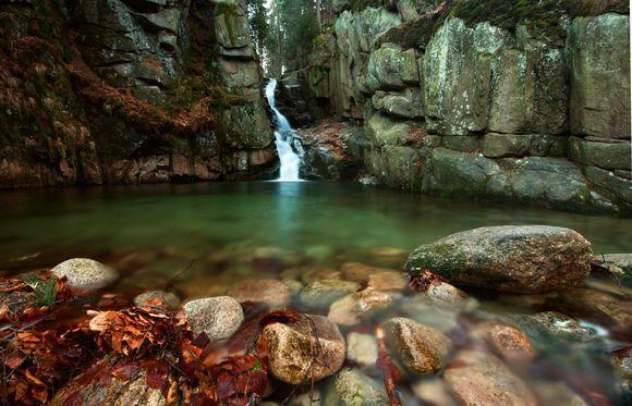Podgorna Waterfall, Poland