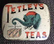 Tetley Tea 1oz Sample/ Vesta Tin c1900