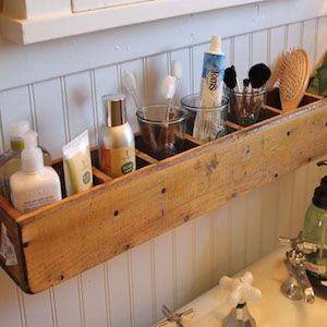Shares These DIY bathroom ideas are inexpensive and easy to do. Also, many of these  ideas are great for small bathrooms. Crafting Supplies You May Need: Scissors Glue (E6000 glue, and/or super glue) Mod Podge Glue gun and glue sticks Tape Paint or foam brushes Ruler Tape measure X-Acto Knife Pencil Marker Pallet and Wood …