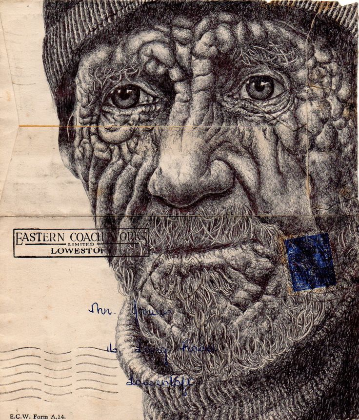 Grandiose Portraits auf Briefumschlägen