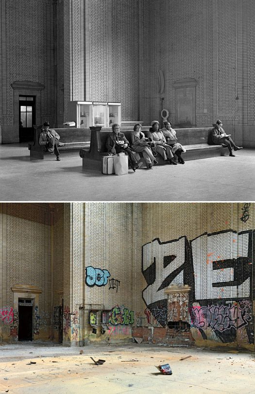 Ruins of Detroit: Before & AfterCentral Michigan, Art, Abandoned Detroit, Rr Depot, Michigan Central, Wait Room, Abandoned Places, 1973 2010, Central Rr