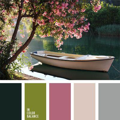 color verde oliva, colores de la primavera, colores para una boda, colores primaverales, elección del color, gama de colores para boda, gris, gris y negro, paleta de colores para una boda, rosado, rosado pálido, rosado y gris, rosado y verde.
