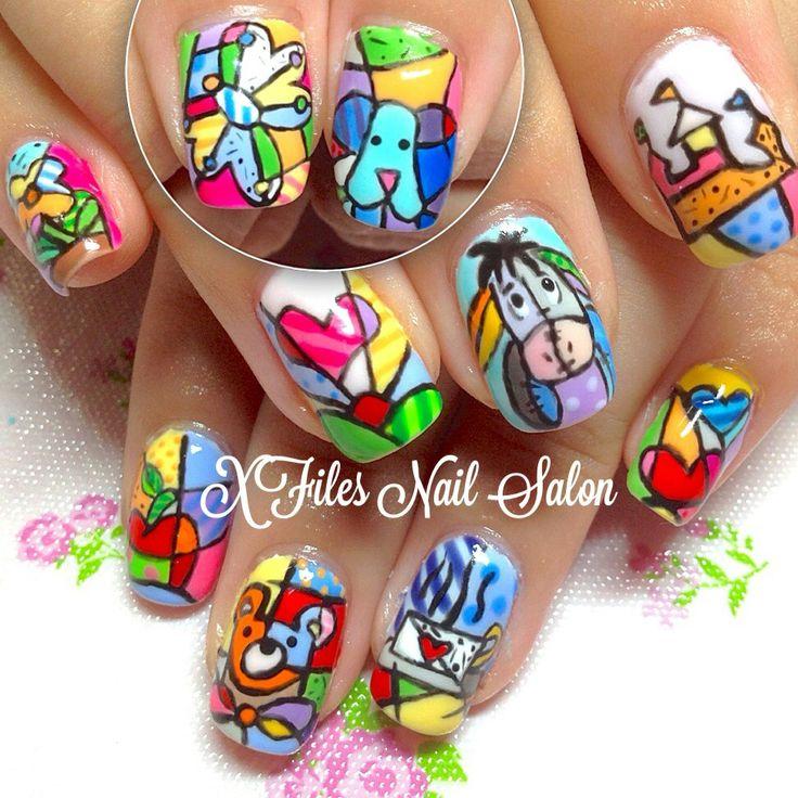 Britto nail art