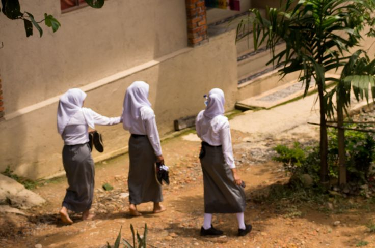 Back from school, Sumatra