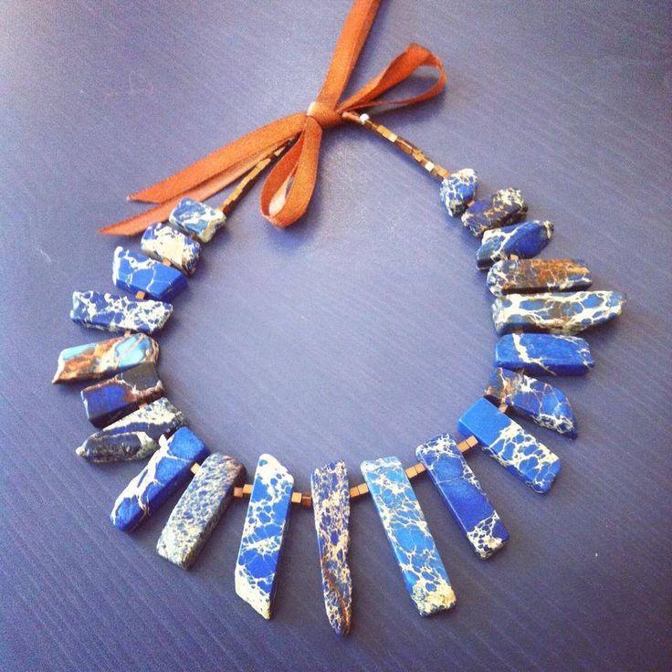 Колье ручной работы из натуральных камней. Handmade necklace.