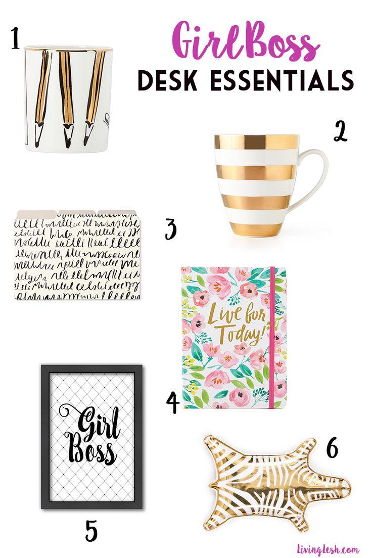 Desk Essentials for the Girl Boss - LivingLesh