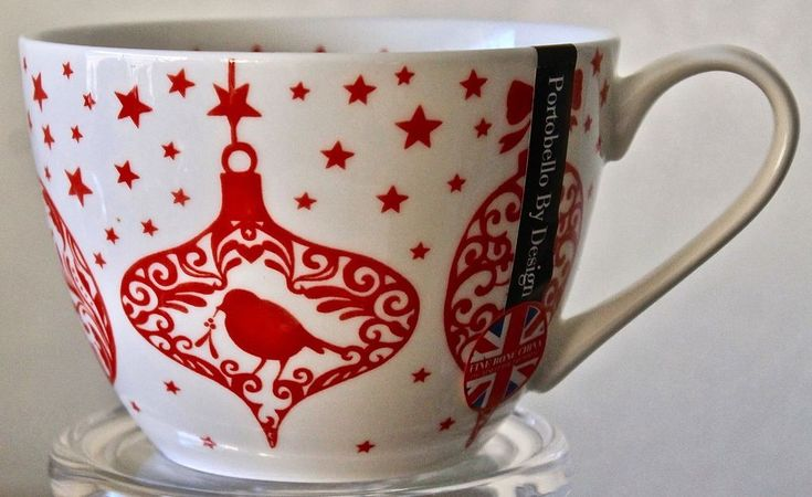 Attractive Portobello By Design Merry Bright Cup Mug Coffee Chritstmas Red England New  253 Best PORTOBELLO BY INSPIRE ENTERTAINING ITEMS FOR SALE Images