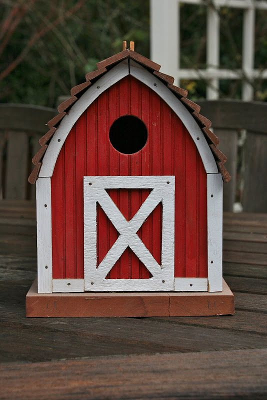 Little red cottage for my fine feathered friends