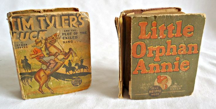 2 Vintage Little Big Book Little Orphan Annie and Tim Tyler's Luck and the Plot of the Exiled King... Whitman 1936 by TreasureCoveAlly on Etsy