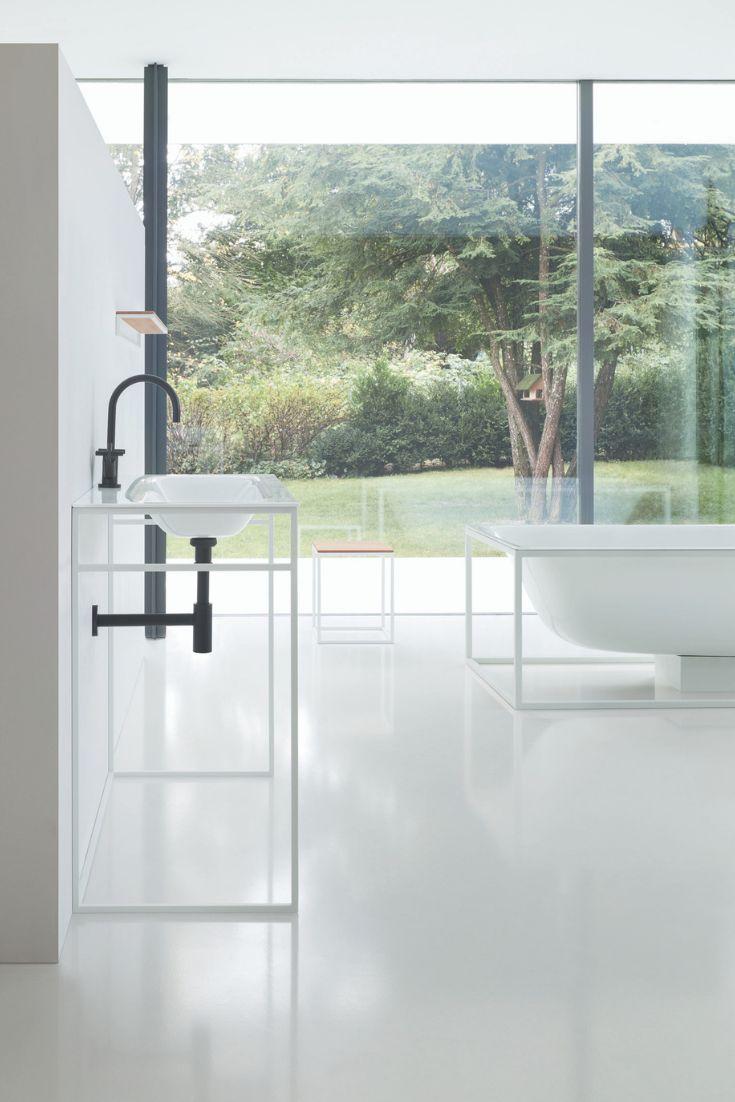 Bette Lux Shape Einbau-Waschtisch f�r Waschtisch-Gestell, ohne Hahnloch, A171 800 x 495 mm