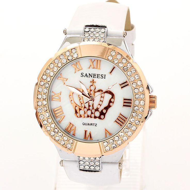 Relojes Women Dress Rhinestone Watches 2014 New Fashion Luxury Brand Clock leather Strap watches Wristwatch Relogio Feminino
