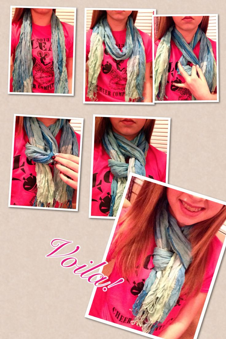 How to tie a scarf 1.) lie it across your neck 2.) wrap