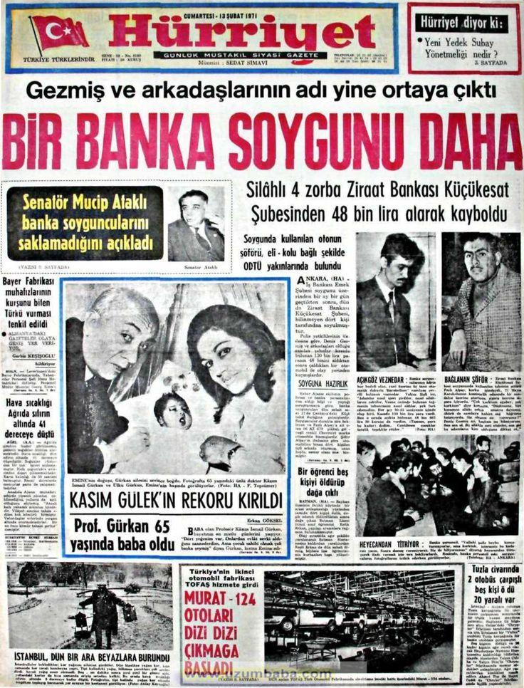 Hürriyet gazetesi 13 şubat 1971