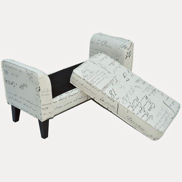 homcom 41 modern linen armed sofa seat shoe bench signature print store online for your. Black Bedroom Furniture Sets. Home Design Ideas