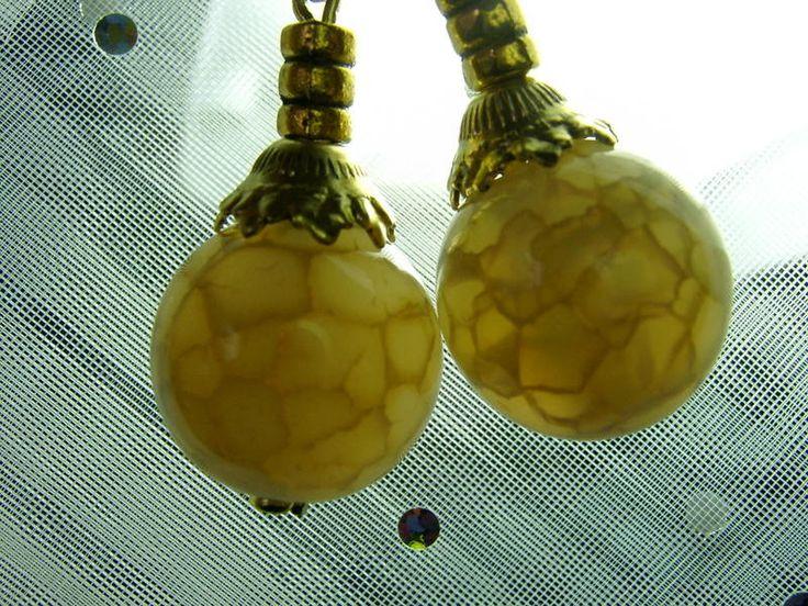 Ohrringe,gelb von kunstpause auf DaWanda.com
