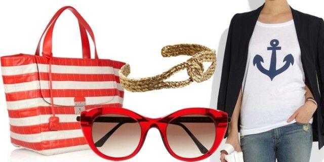 Lo stile da marinaio è tornato di gran moda nella sua versione chic e raffinata: Gucci, Christian Louboutin , Melissa Odabash, Dsquared2