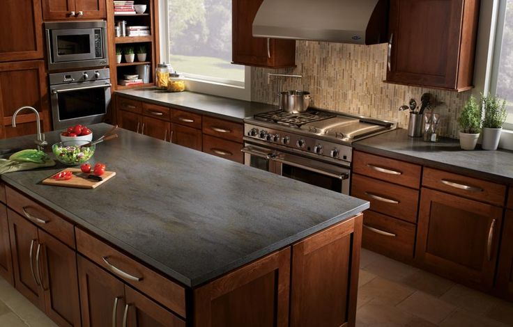 Solid Black Countertops : solid surface countertops Corian Lava Rock solid surface kitchen ...