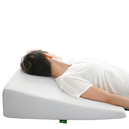 Bed Wedge Pillow with Memory Foam Top by Cushy Form - Best for Sleeping, Reading, Rest or Elevation - Breathable and Washable Cover (7.5 Inch Wedge, White) - $59.70 -