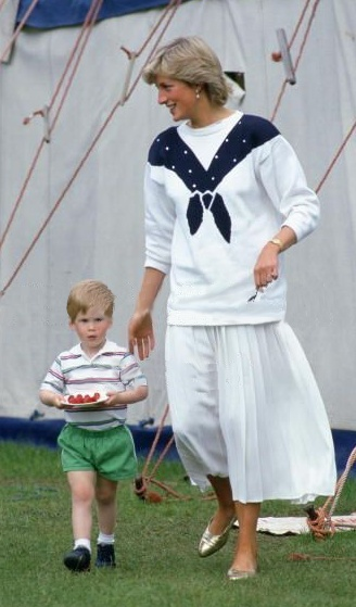 HRH - Diana, Princess of Wales with son Prince Harry.