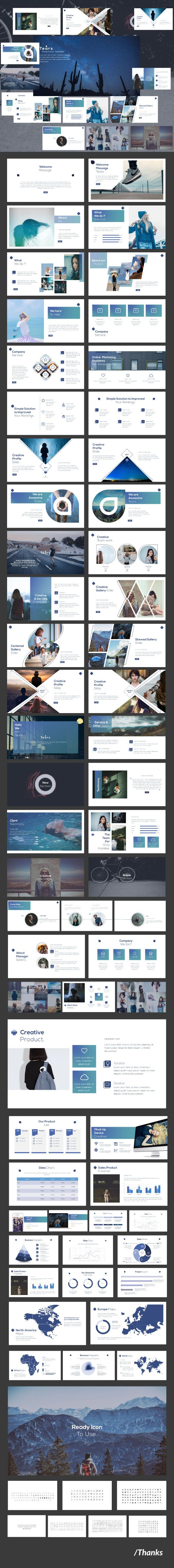 Tears - Multipurpose Presentation Template - Creative PowerPoint Templates