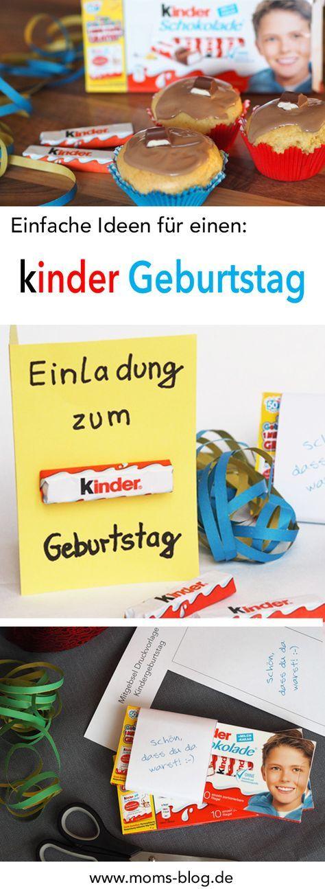 Ideen für einen Kindergeburtstag * in Kooperation mit Ferrero kinder Schokolade
