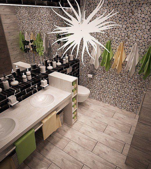 Krásny návrh kúpeľne
