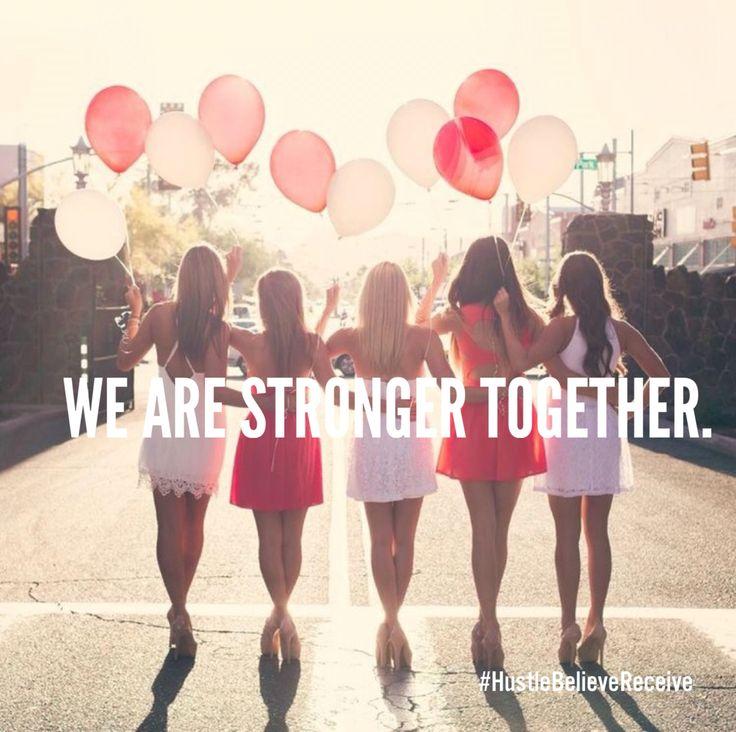 Girl power, national Women's day, strong women, girlfriends #HustleBelievereceive