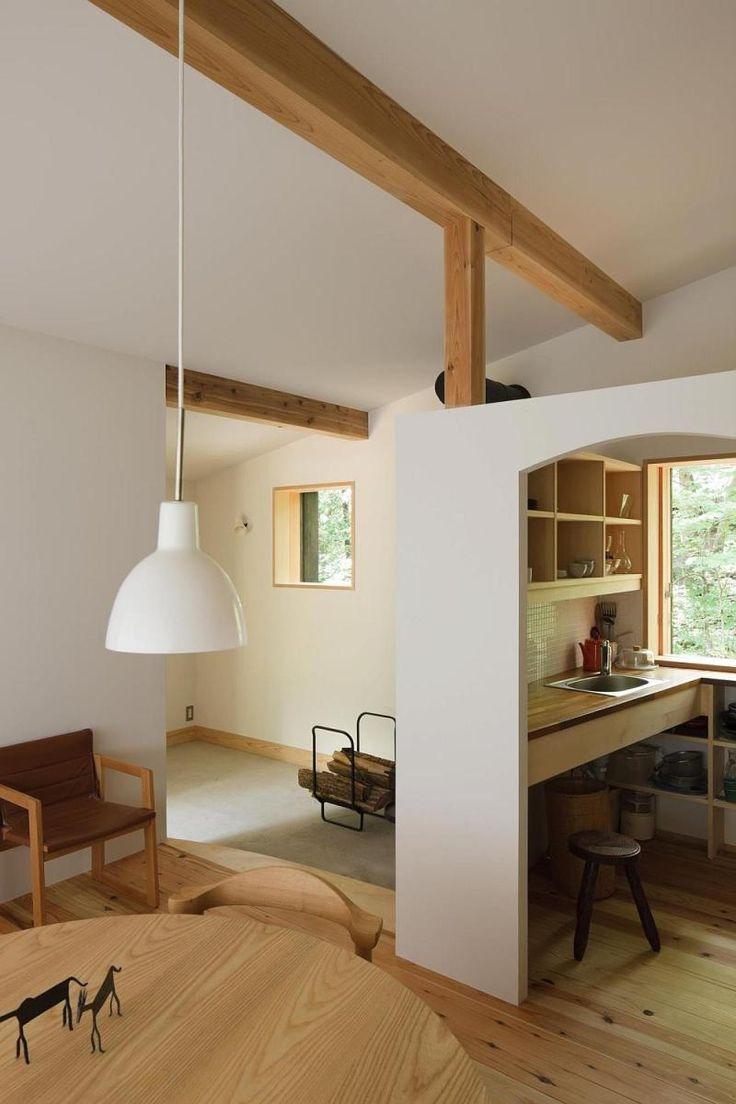 Habuka mountain retreat, a small timber-framed house by Satoshi Irei