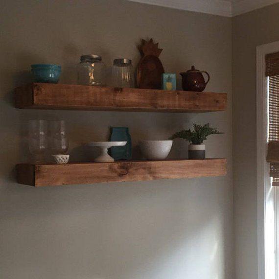 Wood Floating Shelves 12 Inches Deep Rustic Shelf Etsy Wood Floating Shelves Floating Shelves Rustic Shelves