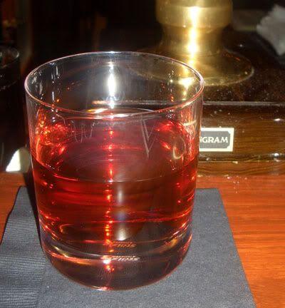 Cocktail Virgin | Scottish Play: 1 3/4 oz Laphroaig 10 Year Old Scotch 1 1/4 oz Cynar 1 oz Aperol 1/8 oz Drambuie  Stir with ice and strain into a rocks glass. Twist an orange peel over the top and discard.