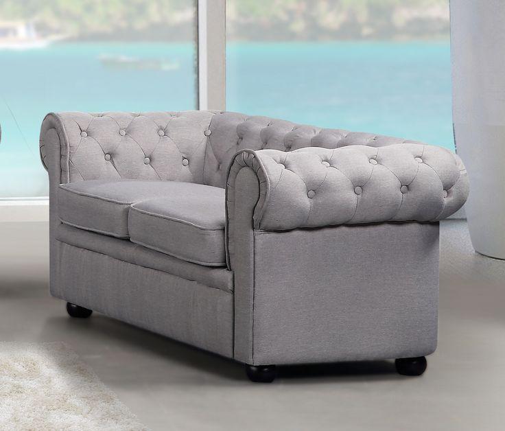VELAGO - AVIGNON Fabric Loveseat Sofa