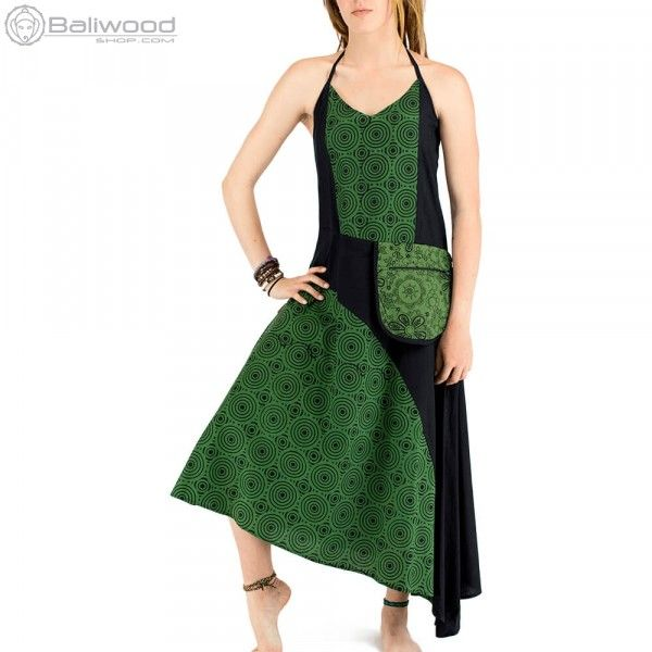 Fabulous Ethnic summer dress with bare back and a small satchel at the waist Its cut