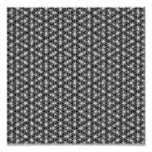 Flower Of Life Intricate Weave #4 Poster