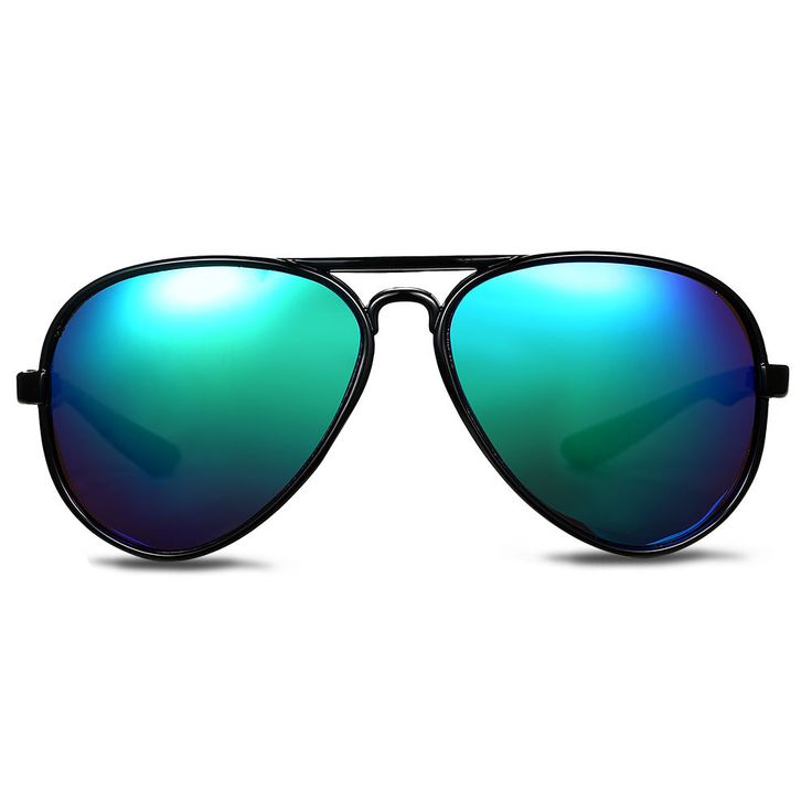 Colorful Polarized Aviators Women Sunglasses Gold|Blue|Purple Mirror Lens Shades