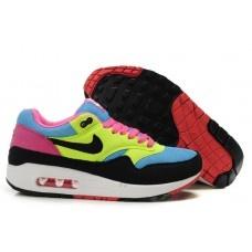 huge selection of 5ba15 cd33b Hommes Nike Air Max 87 Noir Bleu Jaune Rose