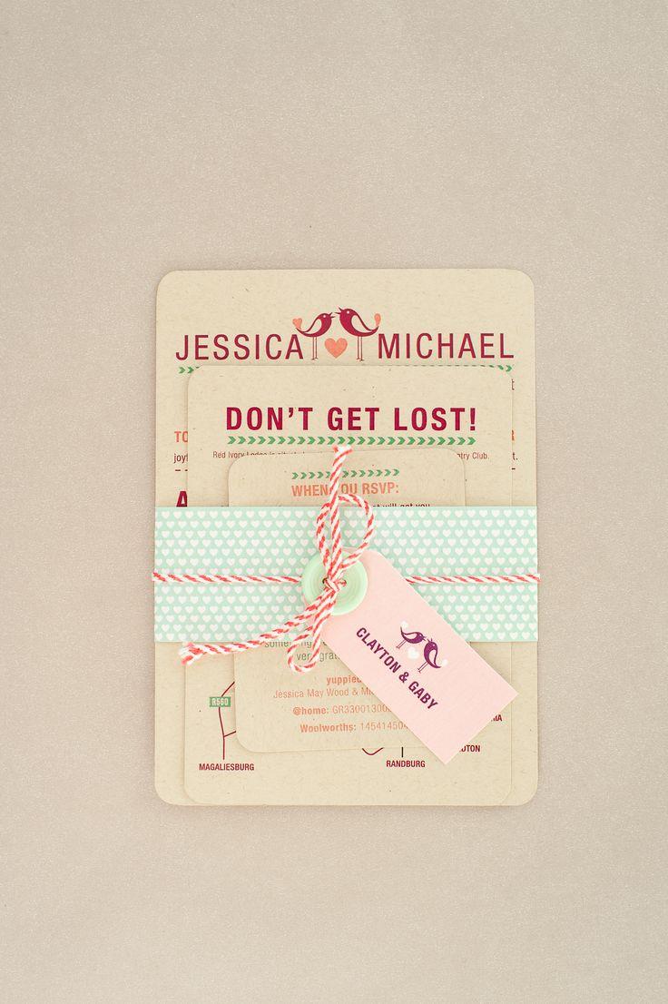 A fun wedding invitation card www.creativeheroes.co.za