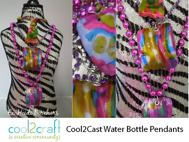 LOVE these water bottle Cool2Cast Pendants by EcoHeidi Borchers! Featured on Cool2Craft TV - http://cool2craft.com