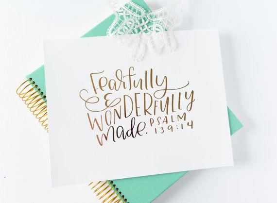 Psalm 139 14 Fearfully and Wonderfully Made by KileyinKentucky