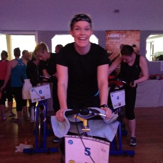 Lovely Susanne joined team Nature Calling at Spin of Hope!:)