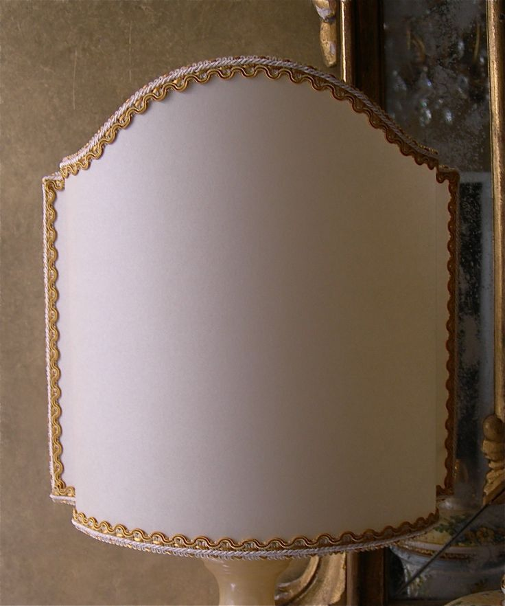 Ivory Parchment Half Lamp Shade