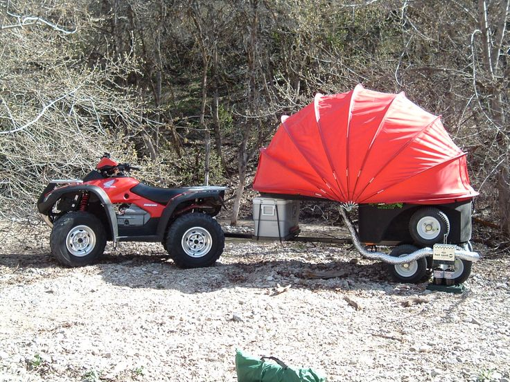 The Spudbug, sleeps two, carries cooler and water containers, has shower and heater options, multi-rotational axle suspension and starts at under $1000