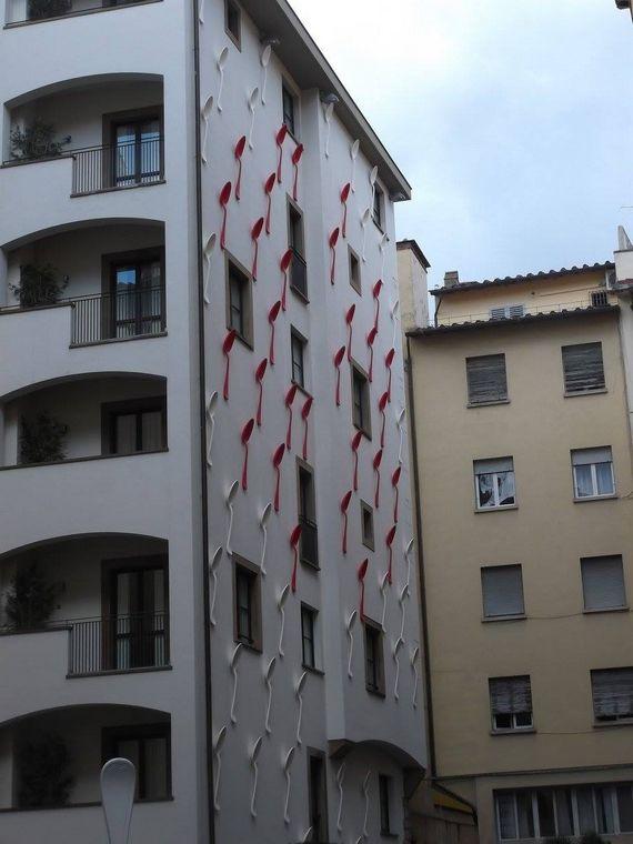 Kaşıklı bina Floransa Italya